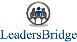 LeadersBridge white logo