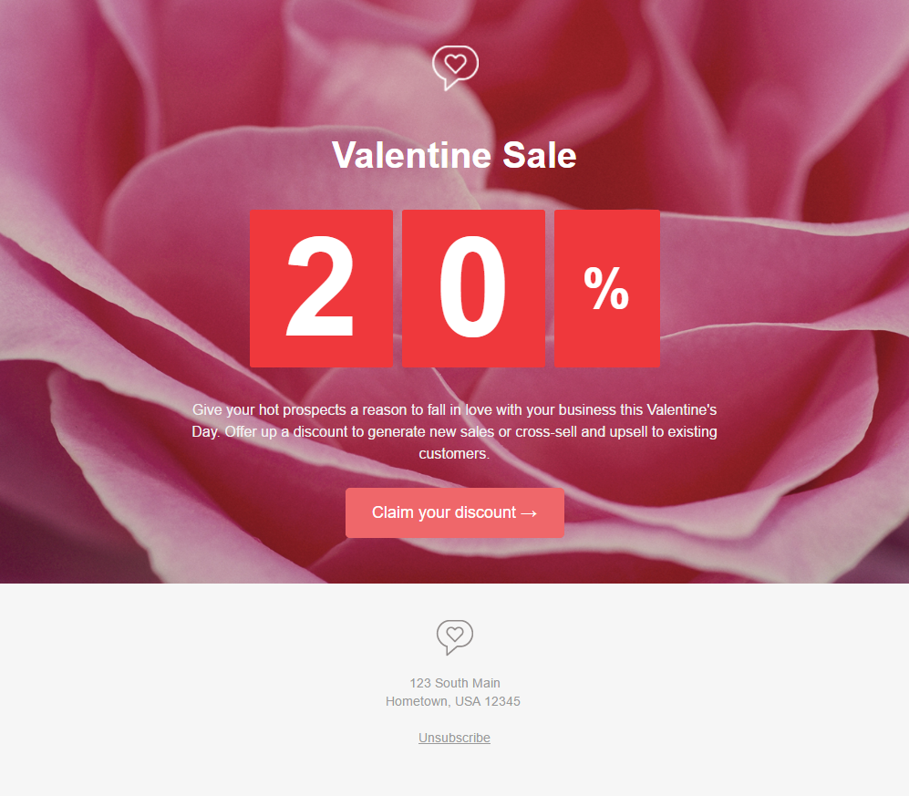 Free Valentines Day Email Templates Hatchbuck