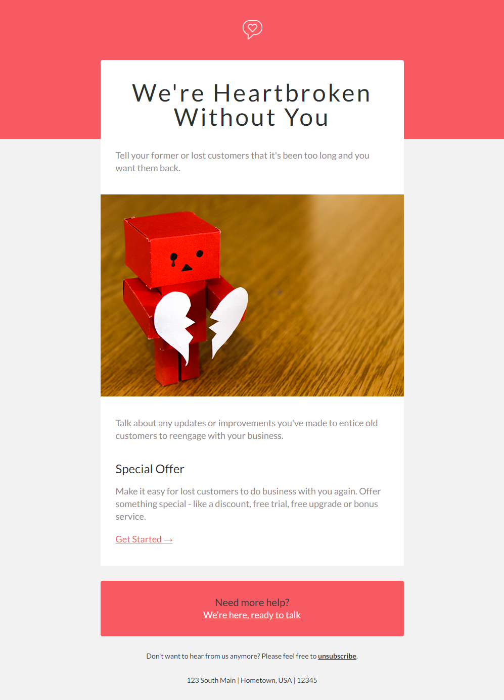 Free Valentines Day Email Templates Hatchbuck - Special offer email template